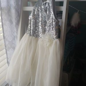 Children's Place Sequined Tulle Dress